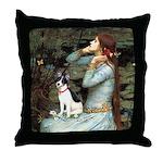Ophelia / Rat Terrier Throw Pillow