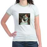 Ophelia / Rat Terrier Jr. Ringer T-Shirt
