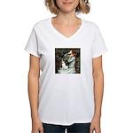 Ophelia / Rat Terrier Women's V-Neck T-Shirt