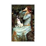 Ophelia / Rat Terrier Sticker (Rectangle 50 pk)