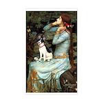 Ophelia / Rat Terrier Sticker (Rectangle)