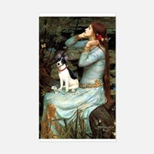 Ophelia / Rat Terrier Sticker (Rectangle)