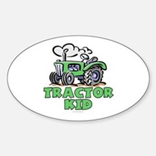 Green Tractor Kid Decal