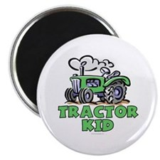 """Green Tractor Kid 2.25"""" Magnet (100 pack)"""