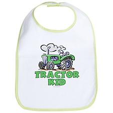 Green Tractor Kid Bib