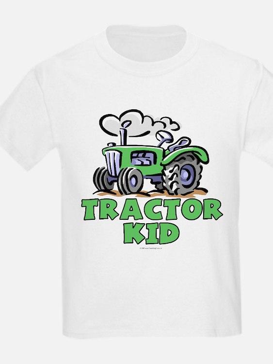 Green Tractor Kid T-Shirt