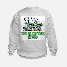 Green Tractor Kid Sweatshirt