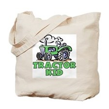 Green Tractor Kid Tote Bag