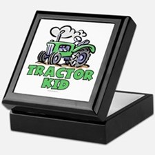 Green Tractor Kid Keepsake Box