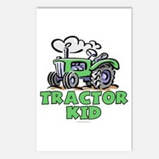 Green Tractor Kid Postcards (Package of 8)