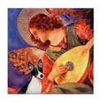 Mandolin / Rat Terrier Tile Coaster