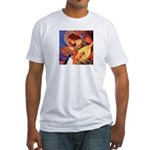 Mandolin / Rat Terrier Fitted T-Shirt