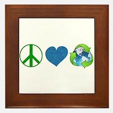 Peace Framed Tile