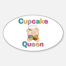 Cupcake Queen Oval Decal