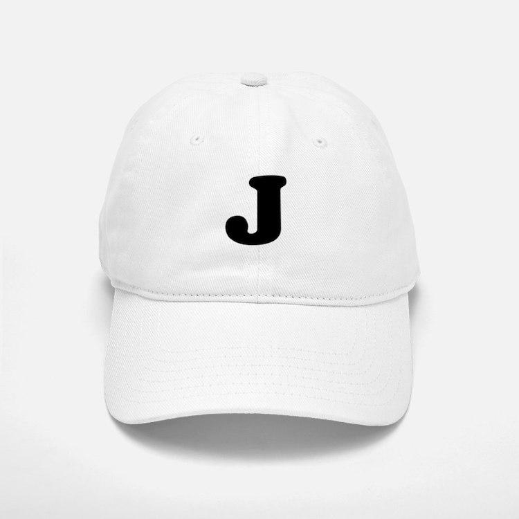 Large Letter J Baseball Baseball Cap