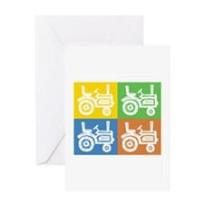Tractor 4 Square Greeting Card