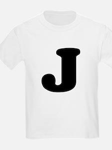 Large Letter J Kids T-Shirt
