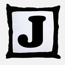 Large Letter J Throw Pillow