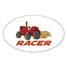 Tractor Racing Oval Decal