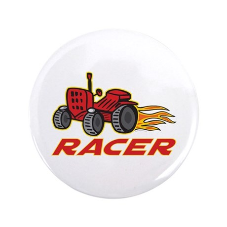 "Tractor Racing 3.5"" Button (100 pack)"