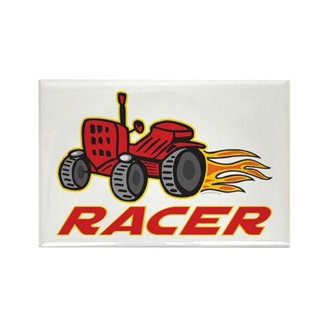 Tractor Racing Rectangle Magnet