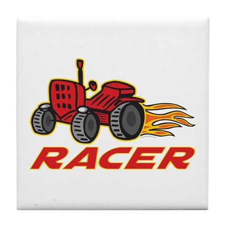 Tractor Racing Tile Coaster