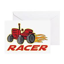 Tractor Racing Greeting Card