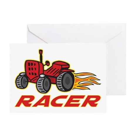 Tractor Racing Greeting Card