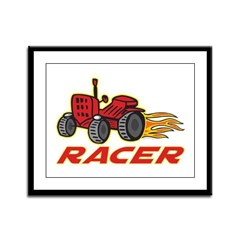 Tractor Racing Framed Panel Print