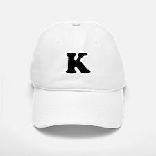 Large Letter K Baseball Baseball Cap