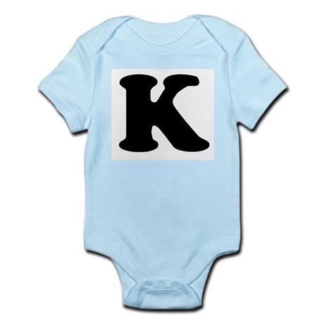 Large Letter K Infant Creeper