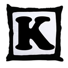 Large Letter K Throw Pillow