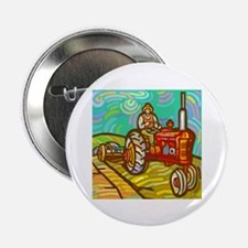 """Van Gogh Tractor 2.25"""" Button (10 pack)"""