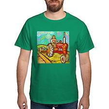 Van Gogh Tractor T-Shirt