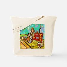 Van Gogh Tractor Tote Bag