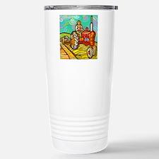 Van Gogh Tractor Stainless Steel Travel Mug