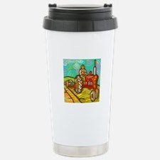 Van Gogh Tractor Travel Mug