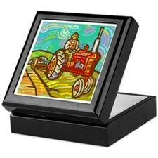 Van Gogh Tractor Keepsake Box