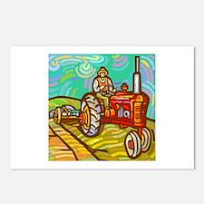Van Gogh Tractor Postcards (Package of 8)