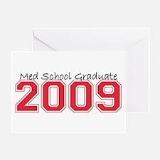Med School Graduate 2009 (Red) Greeting Card