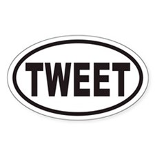 TWEET Euro Oval Decal
