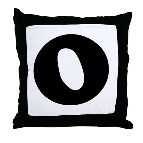 Large Letter O Throw Pillow
