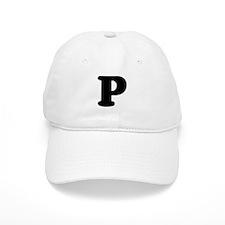 Large Letter P Baseball Baseball Cap