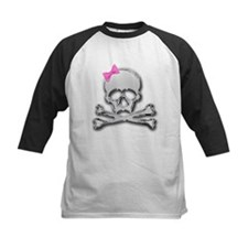 Chrome skull with bow 2 Tee