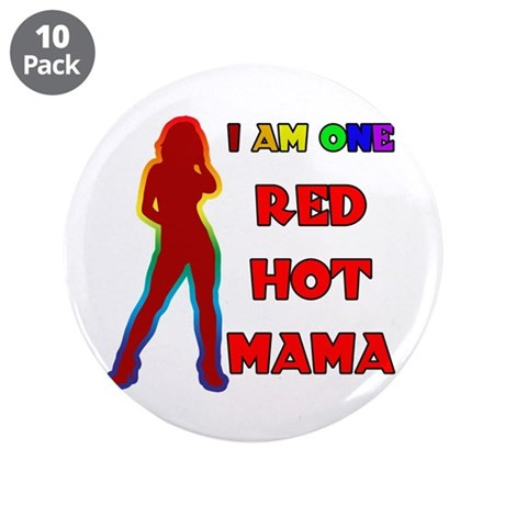 """Red Hot Mama 3.5"""" Button (10 pack)"""