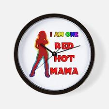 Red Hot Mama Wall Clock