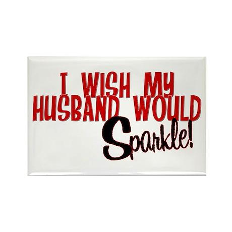 Sparkle Husband Rectangle Magnet