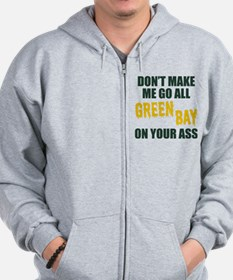 Green Bay Football Zip Hoodie