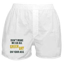 Green Bay Football Boxer Shorts