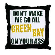 Green Bay Football Throw Pillow
